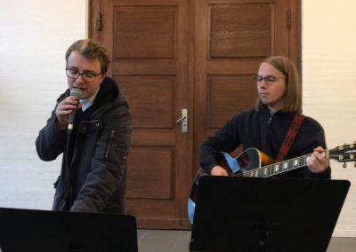 Dejlig musik fra Musikskolen før fakkeloptoget